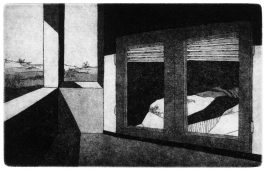 Der Balkon, 2009, etching and aquatint, 13.5 x 19.5 cm, edition: 4