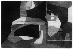 Interieur, 2009, etching and aquatint, 14.5 x 19.5 cm, edition: 5