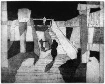Beziehungskonstrukt, 2010, etching and aquatint, 27 x 33.5 cm, edition: 15