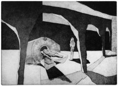 Der fremde Widerhall, 2010, etching, drypoint, and aquatint, 27 x 37 cm, edition: 20