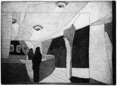 Mit Billigung der Direktion, 2010, etching, drypoint, and aquatint, 27 x 37 cm, edition: 20