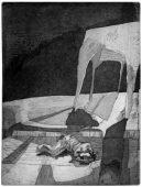 Der Tod des Tigers, 2011, etching and aquatint, 25.5 x 34 cm, edition: 10