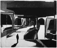 Mitten am Rand, 2011, etching and aquatint, 37.5 x 44 cm, edition: 5