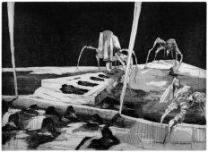 Wer hat Angst vorm Schwarzen Mann?, 2011, etching and aquatint, 31 x 45 cm, edition: 5