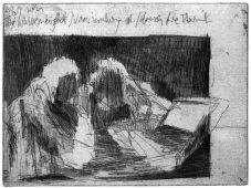 Das Undenkbare II, 2011, etching, vernis mou, and aquatint, 15 x 20 cm, edition: 12