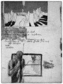 Das Undenkbare I, 2011, etching, vernis mou, and aquatint, 20 x 15 cm, edition: 12