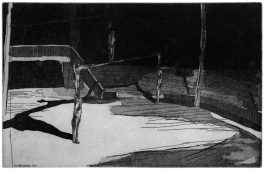 Das Spiel (Der Tod der Gaukler), 2012, etching and aquatint, 24.5 x 38 cm, edition: 10
