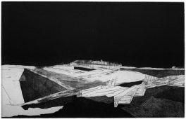 Verschiebung, 2012, etching, vernis mou, and aquatint, 32 x 41 cm, edition: 5