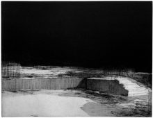 o.T. (Landschaft), 2012, etching, vernis mou and aquatint, 37.5 x 49 cm, edition: -