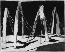 Hinterher, 2017, etching and aquatint, 22.5 x 28 cm, edition: 5